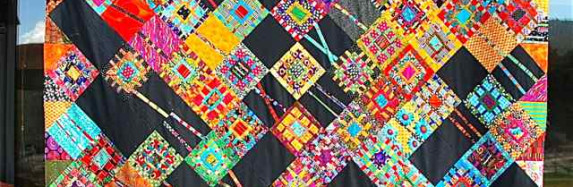 Finished quilt top….not