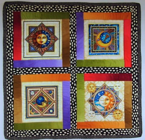 The Sun, The Moon, & The Stars Mini Quilt