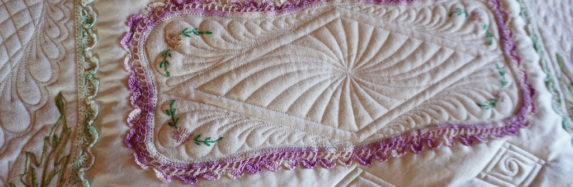 QUILTING WITH EMBROIDERED LINENS